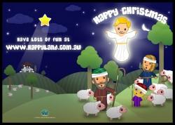 Free Happyland Christmas Cards